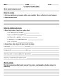 Socratic Seminar Worksheet