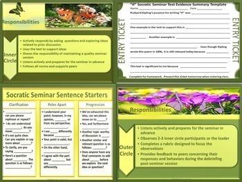 "Socratic Seminar and Activities:  Poetry Analysis of ""If"" by Rudyard Kipling"
