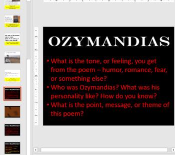 Socratic Seminar and Close Read - Ozymandias - 6th Grade Social Studies