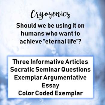 Socratic Seminar and Exemplar Argumentative Essay