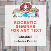 Socratic Seminar for ANY text: Editable!
