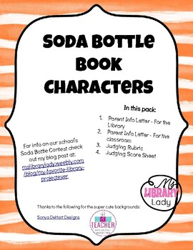 Soda Bottle Book Character Project