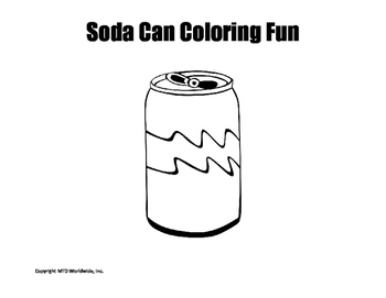 Soda Can Coloring Page