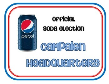 Soda Election (Voting Activity)
