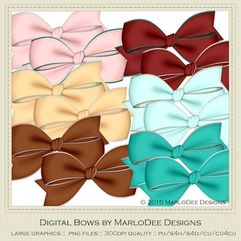 Soda Fountain Colors Digital Bow Graphics