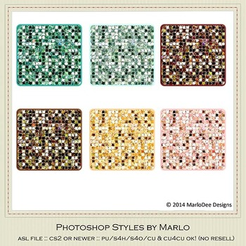 Soda Fountain Colors Marlo Glitter Photoshop Style