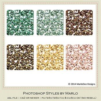 Soda Fountain Colors Glitter Photoshop Style