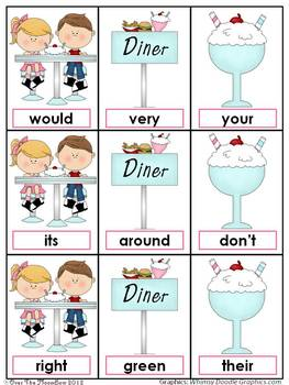Soda Shop Sight Words Dolch 2nd Grade Card Game