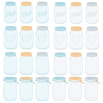 Soft Blue Jars Clipart & Vectors - Ball Jar Clipart