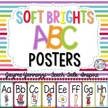 Soft Brights Alphabet Posters
