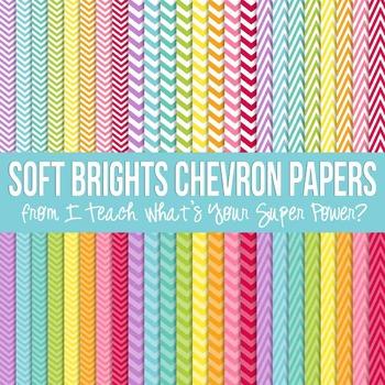 Soft Brights Chevron Paper Pack