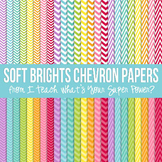 Soft Brights Chevron Paper Pack