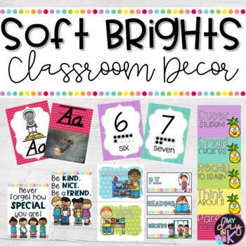Soft Brights Classroom Decor Bundle