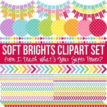 Soft Brights Clipart Pack