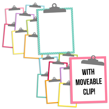 Soft Brights Clipboards Clipart