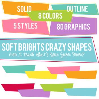 Soft Brights Crazy Shapes Trapezoids Set