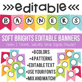 Soft Brights Editable Banners