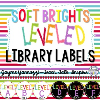 Soft Brights Leveled Library Labels