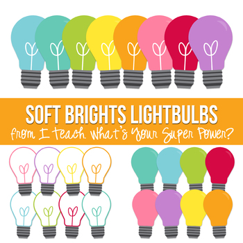 Soft Brights Lightbulbs Clipart