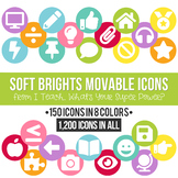 Soft Brights MOVABLE Icons Clipart