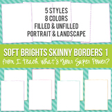Soft Brights Rectangle Skinny Borders