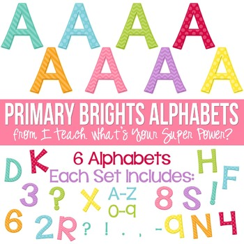 Soft Brights Set of 8 Alphas