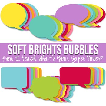 Soft Brights Speech Bubble Pack