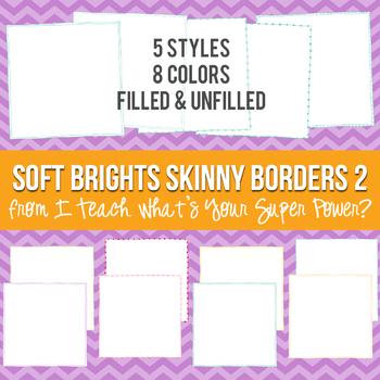 Soft Brights Square Skinny Borders