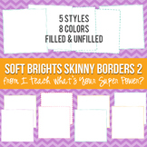 Soft Brights Square Skinny Borders