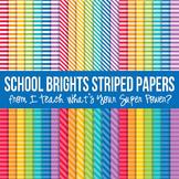 School Brights Stripes Paper Pack