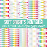 Soft Brights on White Digital Paper Set