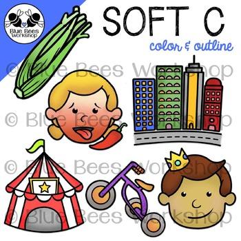 Soft C Clip Art