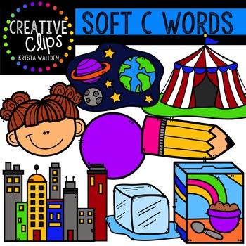 Soft C Clipart {Creative Clips Digital Clipart}