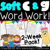 Soft C & Soft G Pack! 2 Weeks of Lesson Planners, Activities, and Word Work!