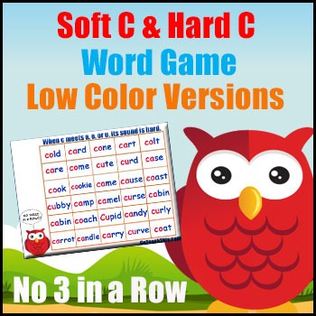 Soft C Games - Hard C Games - Perfect for Literacy Centers