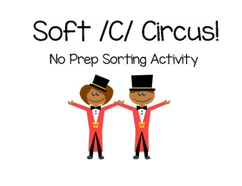 Soft /C/ Hard /C/ No Prep Sorting Activity