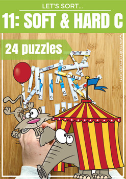 Soft C & Hard C Phonics Word Puzzles and Spelling Practice