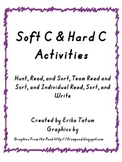Soft C, Hard C Word Sort Activities!!!