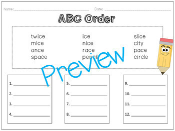 Soft C Pack! A Week of Lesson Plans, Word Work, and Activities!