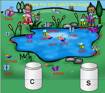 Orton Gillingham Soft C and G Phonics Activities for Smart Notebook