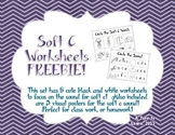 Soft C Phonics Worksheets Freebie!!