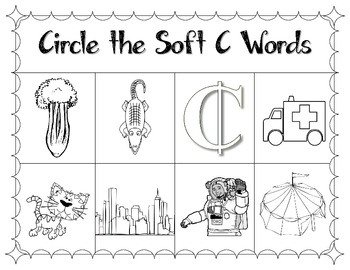 soft c phonics worksheets freebie by a turn to learn tpt. Black Bedroom Furniture Sets. Home Design Ideas