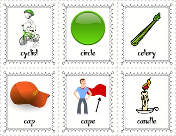 Soft C Speed Sorting: A Picture/Word Sort Center!