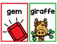 Soft C and G Mini Posters or Flashcards