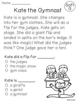 Soft C and G Reading Fluency Passages Bundle