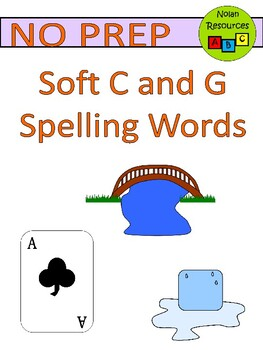 Soft C and G - Spelling Packet