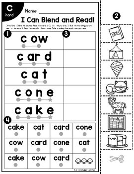Soft C and G and Hard C and G Worksheets | Blend and Read Words with Soft/Hard C