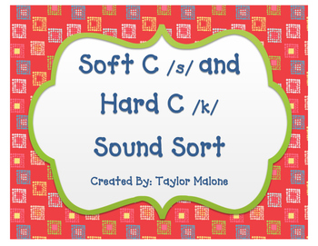 Soft C and Hard C Word Sort