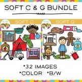 Soft C and Soft G Clip Art Bundle