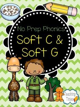 Soft C and Soft G: No Prep Phonics Pack